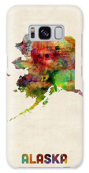 Alaska Watercolor Map Galaxy Case
