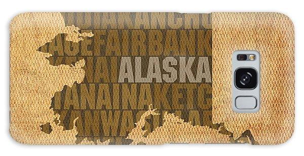 Alaska Word Art State Map On Canvas Galaxy Case