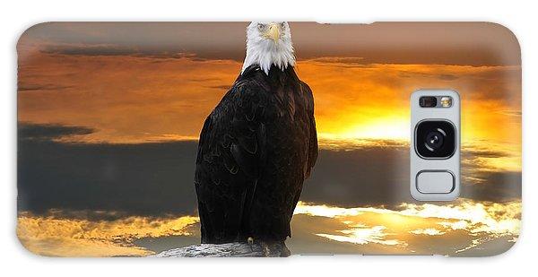 Alaskan Bald Eagle At Sunset Galaxy Case