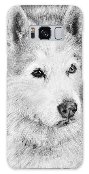 Alaskan Malamute Drawing Mardi Galaxy Case