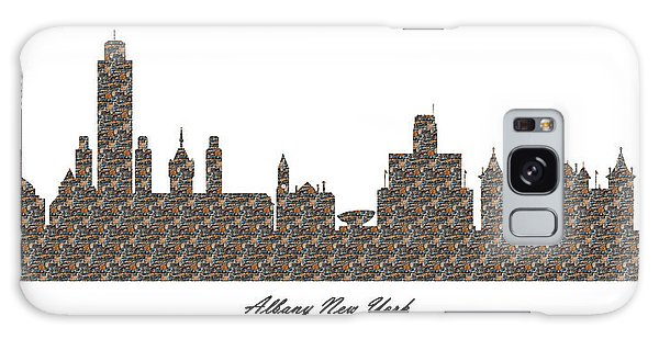Albany New York 3d Stone Wall Skyline Galaxy Case