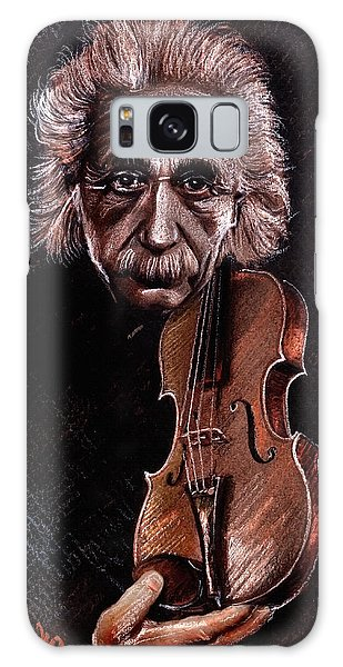 Albert Einstein And Violin Galaxy Case
