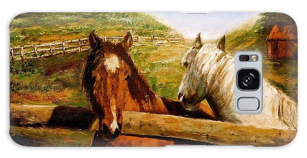 Alberta Horse Farm Galaxy Case by Sher Nasser