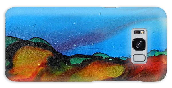 Alcohol Ink Landscape # 134 Galaxy Case