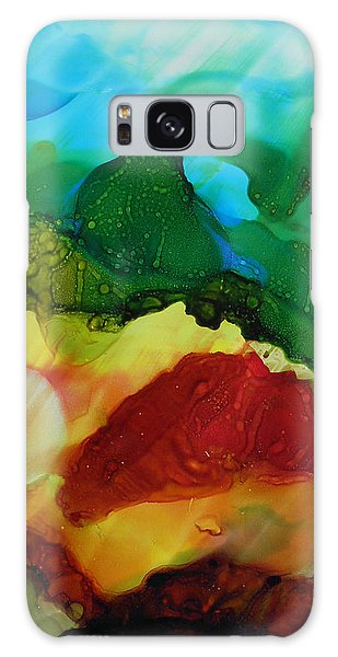 Alcohol Ink Landscape # 157 Galaxy Case