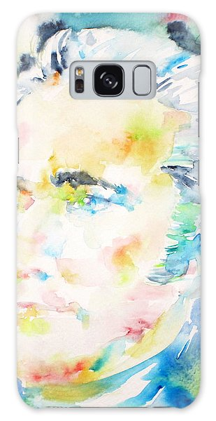 Alexander Hamilton - Watercolor Portrait Galaxy Case