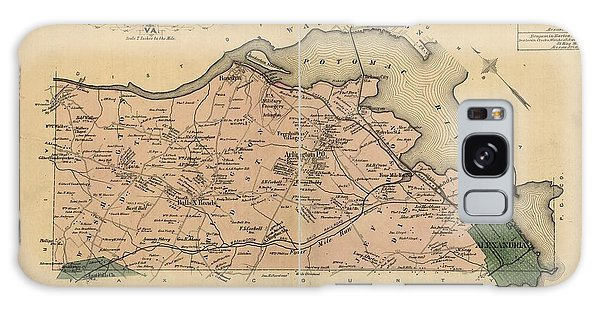 Alexandria Virginia 1878 Galaxy Case by Joseph Hawkins