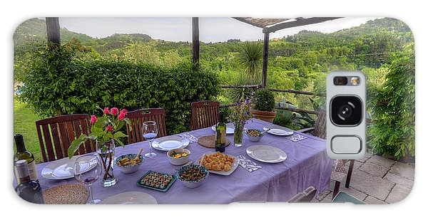 Alfresco Dining In Tuscany Galaxy Case