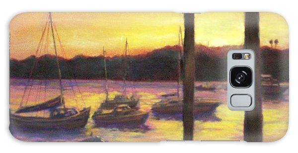 Algarve Sunset Galaxy Case by Harriett Masterson