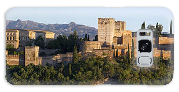 Galaxy Case featuring the photograph Alhambra Palace - Panorama by Nathan Rupert