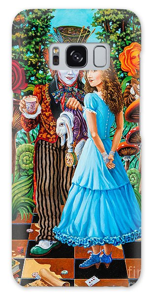 Alice And Mad Hatter. Part 2 Galaxy Case