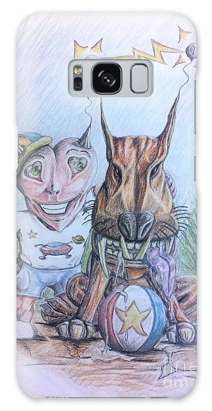 Alien Boy And His Best Friend Galaxy Case by R Muirhead Art