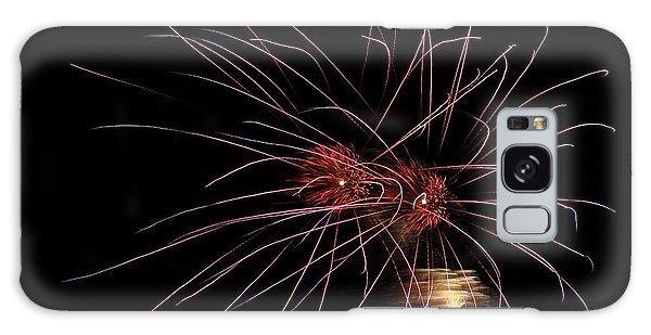 Alien Eyes - Fireworks At St Albans Bay Galaxy Case