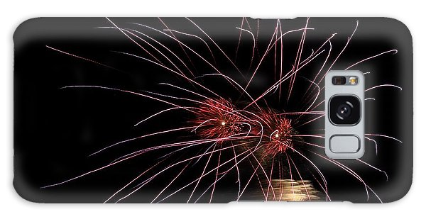 Alien Eyes - Fireworks At St Albans Bay Galaxy Case