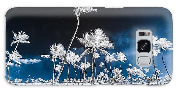 Alien Palm Trees Galaxy Case