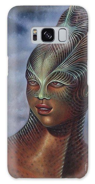 Alien Portrait I Galaxy Case