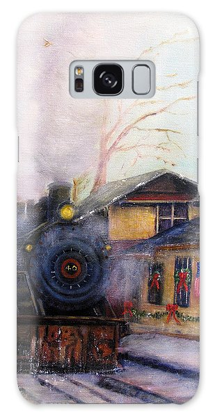 All Aboard At The New Hope Train Station Galaxy Case by Loretta Luglio