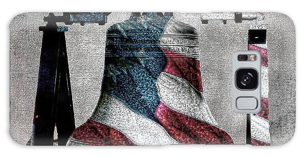 All American Liberty Bell Art_denim Galaxy Case