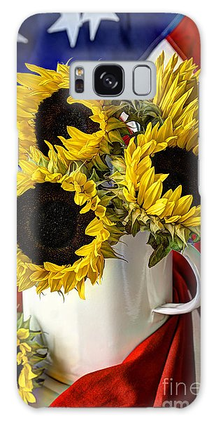 All American Sunflowers Galaxy Case