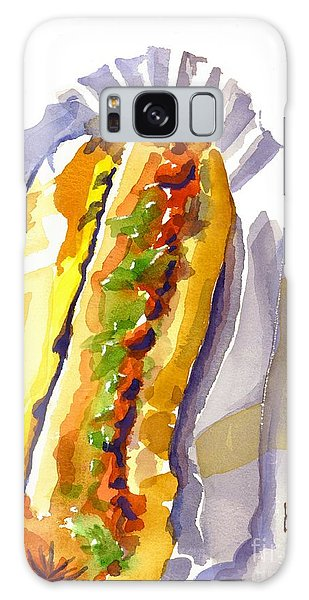 All Beef Ballpark Hot Dog With The Works To Go In Broad Daylight Galaxy Case