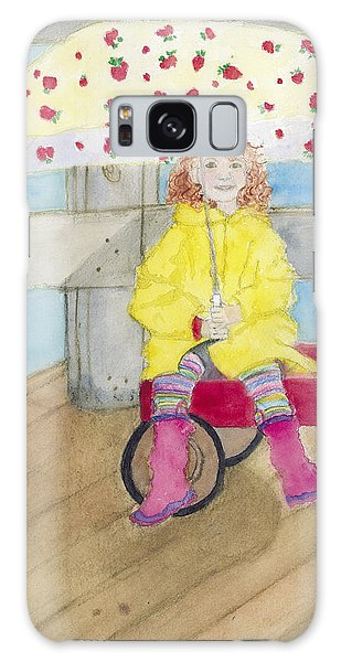 All Dressed Up And Ready For Rain Galaxy Case by Ann Michelle Swadener