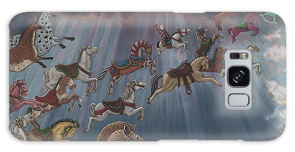 All Good Horses Go To Heaven Galaxy Case by Holly Wood