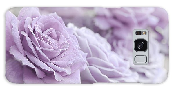 Galaxy Case featuring the photograph All The Soft Violet Roses by Jennie Marie Schell