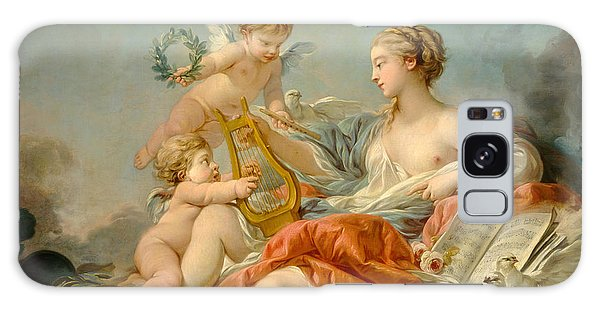 Allegory Of Music Galaxy Case by Francois Boucher