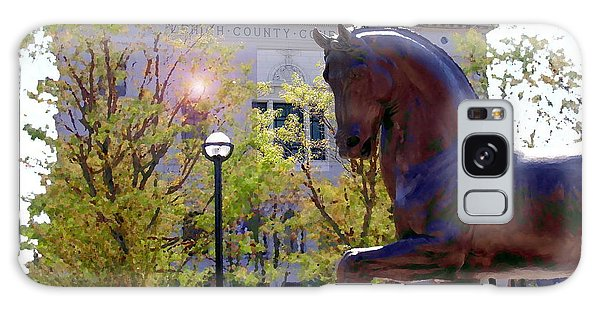 Allentown Pa Old Lehigh County Courthouse And Davinci I Horse  Galaxy Case
