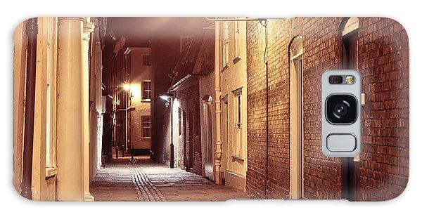 Bury St Edmunds Galaxy Case - Alley At Night by Tom Gowanlock