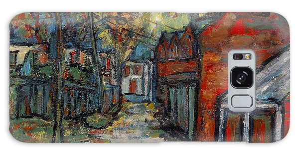 Alley Behind Sydenham Street Galaxy Case by David Dossett