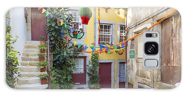 Alley In Old Town Porto Portugal Galaxy Case