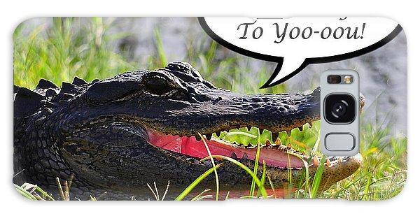 Alligator Birthday Card Galaxy Case