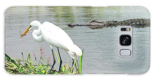 Alligator Egret And Shrimp Galaxy Case