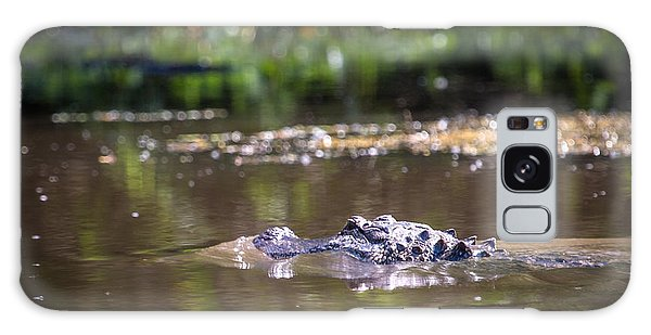 Alligator Swimming In Bayou 1 Galaxy Case