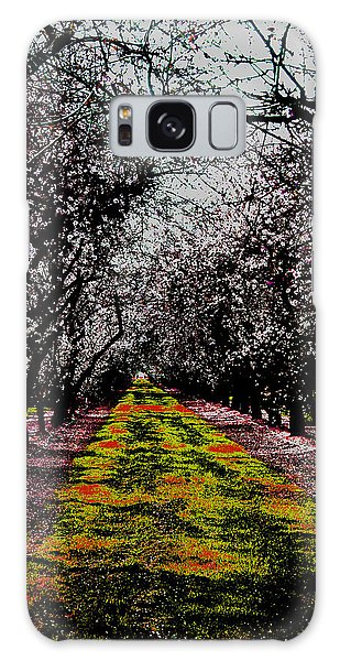 Almond Trees In Bloom Galaxy Case