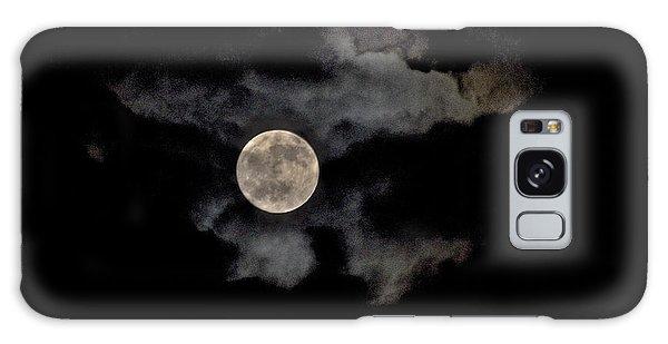 Almost Full Moon Galaxy Case by Joe  Burns