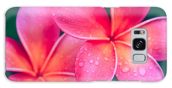 Aloha Hawaii Kalama O Nei Pink Tropical Plumeria Galaxy Case