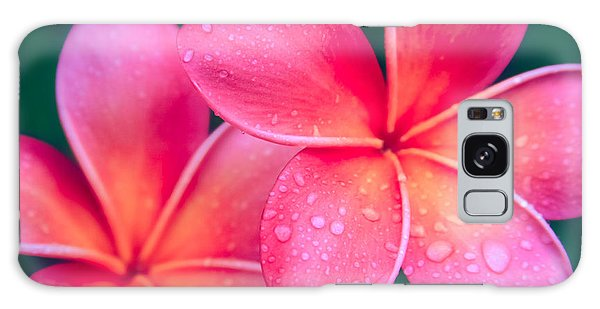 Aloha Hawaii Kalama O Nei Pink Tropical Plumeria Galaxy Case by Sharon Mau