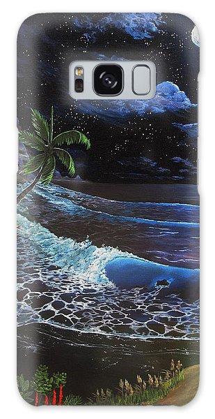 Aloha Luna Galaxy Case by Kevin F Heuman