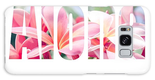 Aloha Tropical Plumeria Typography Galaxy Case