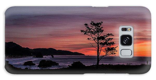 Alone At Sunset Galaxy Case