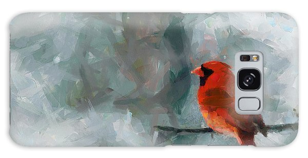 Alone Red Bird Galaxy Case