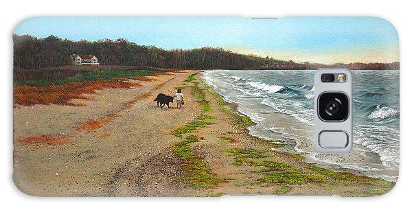 Along The Shore In Hyde Hole Beach Rhode Island Galaxy Case