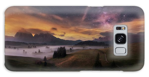 Countryside Galaxy Case - Alpe Di Siusi At Night by Ales Krivec