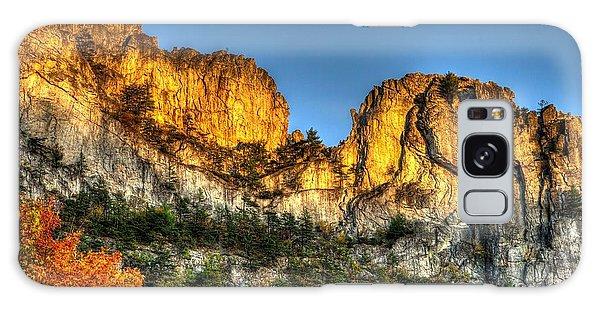 Alpenglow At Days End Seneca Rocks - Seneca Rocks National Recreation Area Wv Autumn Early Evening Galaxy Case