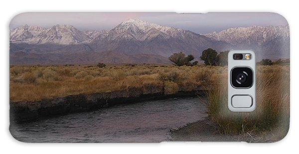 Alpenglow On Owens River Galaxy Case
