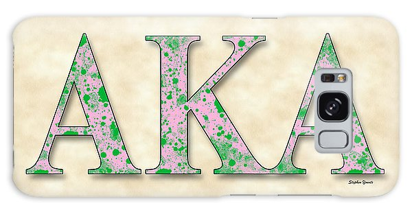 Alpha Kappa Alpha - Parchment Galaxy Case by Stephen Younts