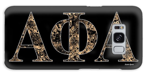 Alpha Phi Alpha - Black Galaxy Case by Stephen Younts