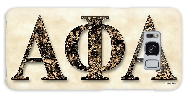 Alpha Phi Alpha - Parchment Galaxy Case by Stephen Younts